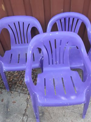 Purple Patio Chairs $20.00 cash only (serious buyers) for Sale in Dallas, TX