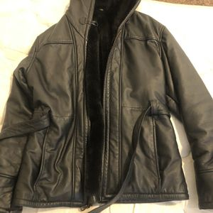 Leather Jacket With Fur for Sale in Fresno, CA