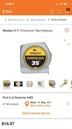 Brand new 35 foot stanley tape measure for Sale in Sun City, AZ