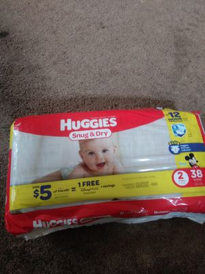 Big bag of girl clothes size newborn to 3t plus pack of Huggies diapers for Sale in Detroit, MI