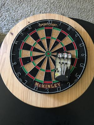 Sportscraft McKinley dart board, backstop, and darts for Sale in Newport Beach, CA