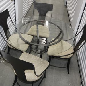 5 Piece Glass Table Dining Set for Sale in Alexandria, VA