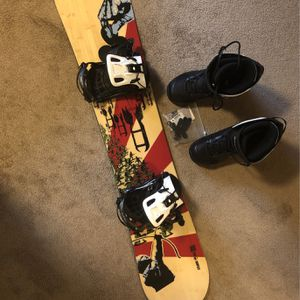 Snowboard With Bindings And Boots for Sale in Kirkland, WA