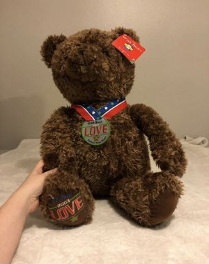 "Gund Limited Edition ""Love"" Brown Plush Bear for Sale in Yorba Linda, CA"
