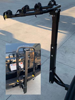 New in box 3 Bikes Carrier Rack standard hitch receiver mount travel holds 3 road mountain beach cruiser bicycle for Sale in Los Angeles, CA