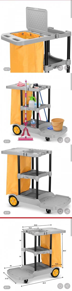 New Commercial Janitorial Cleaning Cart 3 Shelf Housekeeping Ultility Cart for Sale in Hacienda Heights, CA