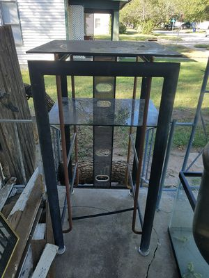 black metal stands with glass shelves for Sale in Wichita, KS