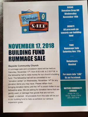 Rummage Sale for Sale in Port Lavaca, TX
