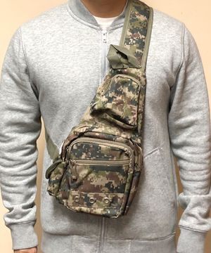 NEW! Camouflage Shoulder bag, cross body bag pouch travel bag not supreme satchel gym bag Shoulder pack side bag back sling bag for Sale in Long Beach, CA