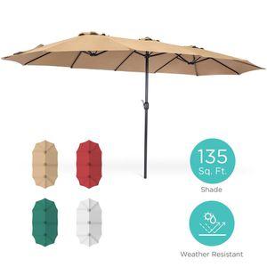 Rectangular Twin Market Patio Umbrella for Sale in SELFRIDGE, MI