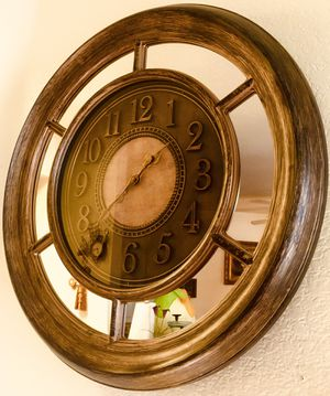 Beautiful mirrored wall clock W26xD3 inch for Sale in Chandler, AZ