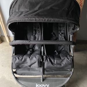 Joovy Double Stroller 5 Pt Harness Both Seats Big Basic Underneath For Storage for Sale in Moreno Valley, CA