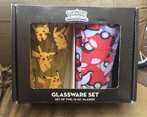 Pokémon Glassware set of 2, 16oz Glasses/Cups for Sale in Downey, CA
