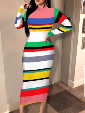 🌈Multi-colored Striped Dress for Sale in Durham, NC