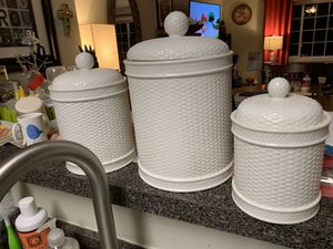 Martha Stewart 3 Piece Canister set for Sale in Alexandria, VA