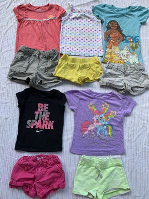 10 pc lot baby girls 2T summer shorts & shirts Nike My Little Pony Moana OldNavy for Sale in Painesville, OH