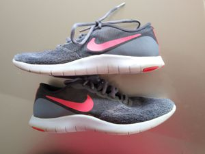 Women's size 7 Nike Women's Flex Contact Running.Cool Grey/Solar Red/Anthracite 9. for Sale in Columbus, GA