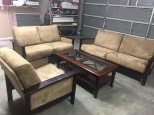 4 pieces microsuede couch -sofa- for Sale in Henderson, NV
