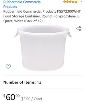 Rubbermaid Round Storage Container for Sale in Orosi, CA