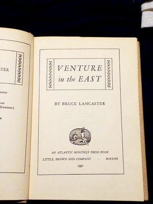 Bruce Lancaster; Venture in the East 1st Ed for Sale in Oklahoma City, OK