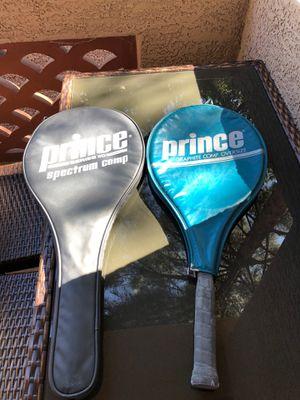 Prince / Wilson Tennis Racket Pair with Penn 2 Balls for Sale in Chandler, AZ