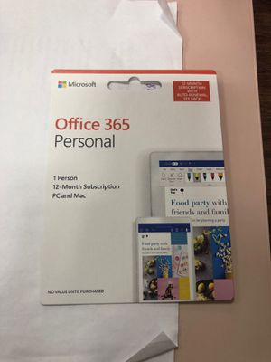 Office 365 personal subscription for Sale in Honolulu, HI