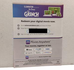The Grinch Digital Movie Redemption Code for Sale in Cerritos, CA