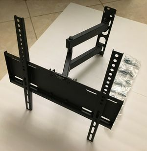 New in box Universal for 22 to 55 inch tv sizes tilt adjustable swivel full motion tv television wall mount includes TV bracket hardware and screws for Sale in Whittier, CA
