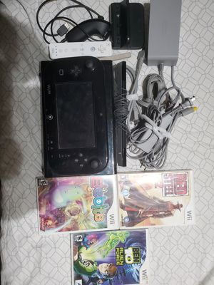 Nintendo Wii u with 4 games for Sale in Temple, TX