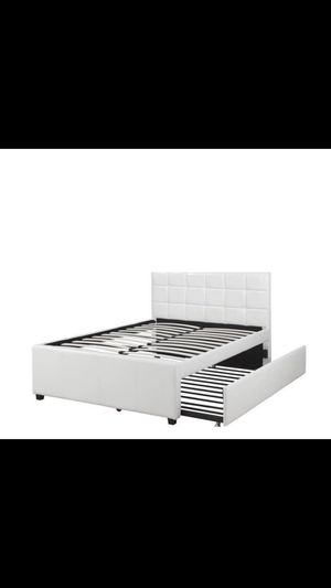 Full/Twin platform bed frame white for Sale in Phoenix, AZ