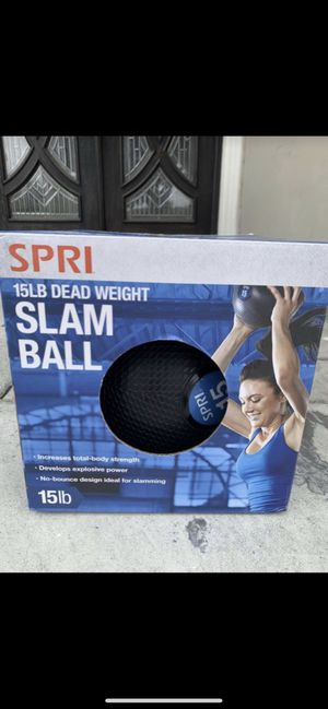 Brand new 15lb slam ball dead weight gym workout exercise equipment for Sale in South El Monte, CA