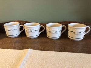 Longaberger mugs, set of 4, small mugs, excellent condition for Sale in Sykesville, MD