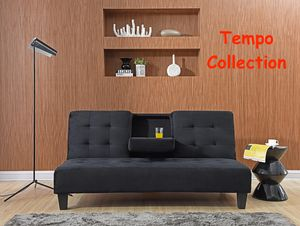 NEW IN THE BOX. FUTON WITH CUPHOLDERS, BLACK, SKU# TC7501 for Sale in Santa Ana, CA
