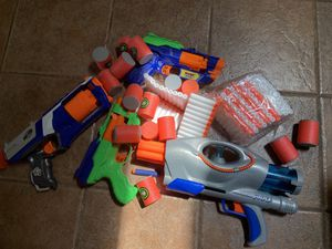 Nerf guns and bullets for Sale in La Mesa, CA