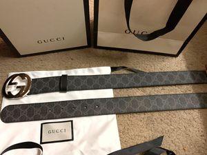 Gg black monogram belt for Sale in Milpitas, CA