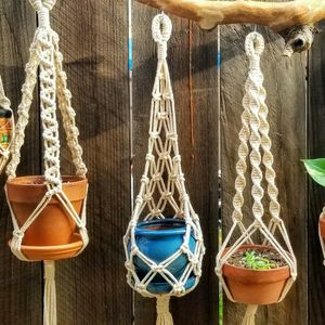 """Macrame Plant Hanger 3 Or 4"""" Inch Pots Small Pots 20"""" Inches Long for Sale in Sacramento, CA"""
