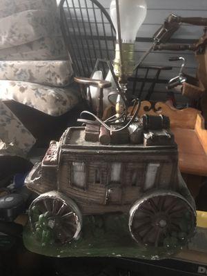 Antique chalk ware Stage Coach lamp for Sale in Virginia Beach, VA