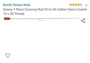 Dewey 1-Piece Cleaning Rod 35 to 45 Caliber Nylon Coated 12 x 28 Thread for Sale in Fontana, CA