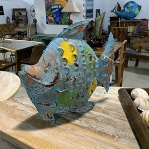 Hand Painted Metal Fish for Sale in Hallandale Beach, FL