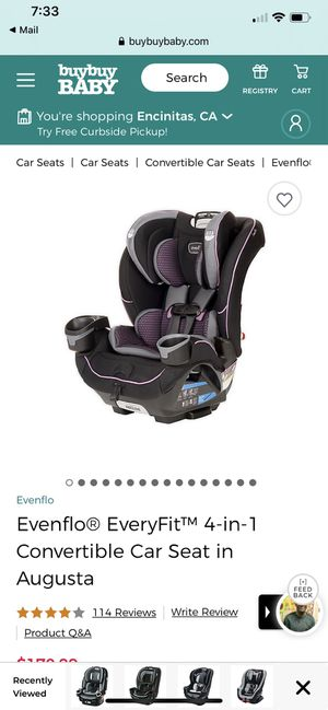 Evenflo car seat for Sale in Oceanside, CA