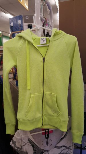 Aeropostale Live Laugh Love Neon Yellow Zip Up Hoodie XS for Sale in Port Richey, FL
