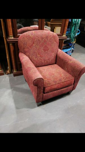 Burgundy pattern upholstered arm chair for Sale in Mooresville, NC