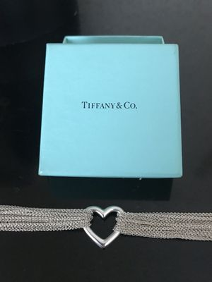 Tiffany & Co. **RETIRED** Open heart, mesh, multi-strand toggle necklace for Sale in Cleveland, OH