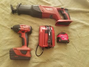 Hilti SID-18a plus wsr 18-a battery and charger. Free tape measure. for Sale in NEW SALEM BRO, PA