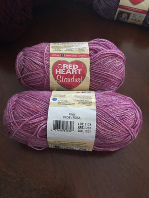 Red Heart Stardust for Sale in Manteca, CA