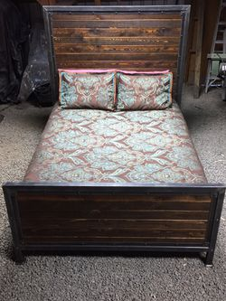 Locally crafted rustic bed frame for Sale in Prineville,  OR