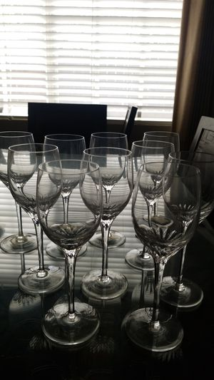 10 crystal wine glasses for Sale in City of Industry, CA