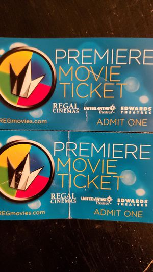 2 Regal movie tickets for Sale in Boonville, MO