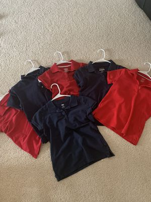6 girl uniform shirts - size 10/12 for Sale in Colorado Springs, CO