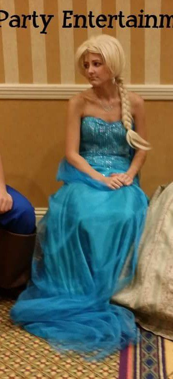 Strapless Corset Elsa Blue Dress